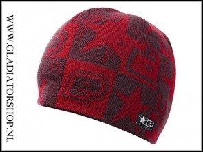 Eclipse Squared Beanie rood
