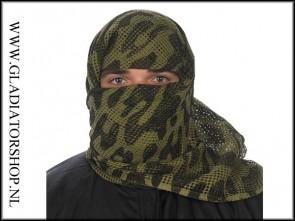 Sniper net face veil scarf camo sjaal