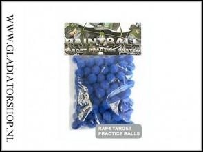 Rap4 target practice balls blauw 100 stuks