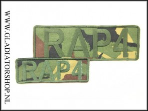 Rap4 velcro patch Woodland