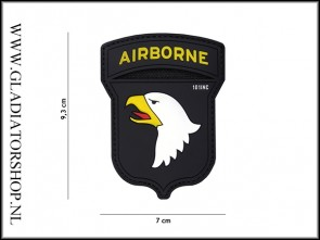 PVC Velcro Patch: Airborne 101 zwart