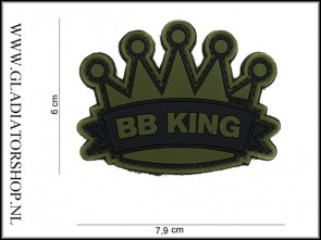 PVC Velcro Patch: BB King Groen