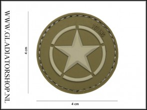 PVC Velcro Patch: Allied star groen