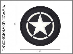 PVC Velcro Patch: Allied star wit