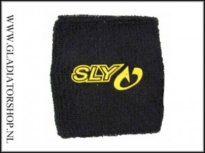Sly polsband zweetband zwart met Sly logo