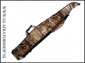Airsoft/paintball sniper geweer draagtas in leaf camo (130cm)
