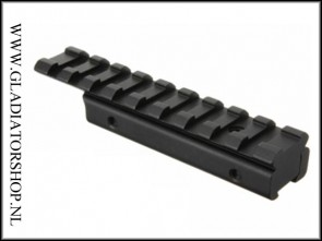 Sniper  11mm dovetail naar 21mm weaver adaptor rail