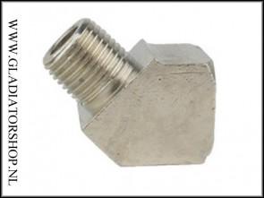 Steel air hose elbow 45 graden