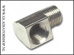 Steel air hose elbow 90 graden