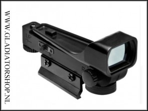 Tactical reflex sight / scope met red dot met breed zicht.