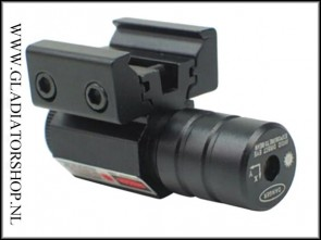 Warrior compact formaat red dot laser voor picatinny en dovetail rail