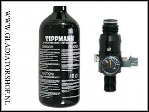 Tippmann 0,8 liter (0,8L) 200 bar perslucht fles inclusief regulator