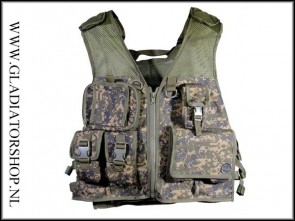 Tippmann Pro series tactical paintball vest digital camo met fixed pouches