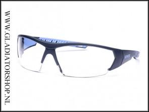 Uvex i-works Anthracite/blue, lens helder is anti-condens & krasvast (NABV voorschrift EN166-F)