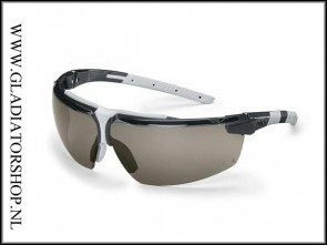 Uvex i-3 AR black, lens smoke is anti-condens & krasvast  (NABV voorschrift EN166-F)