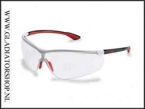 Uvex Sportstyle red, lens helder is anti-condens & krasvast (NABV voorschrift EN166-F)