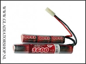 VB power 1600 mAh Crane stock batterij 8.4v Airsoft