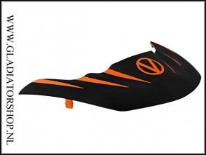 Virtue Vio Stealth visor zwart oranje