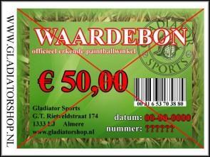 Gladiator waardebon ter waarde van € 50,-
