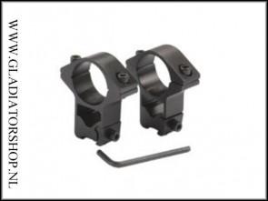 Warrior 1 paar scope mount ringen 25.4 naar 11 mm dovetail rail