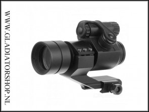 30mm tactical red + green dot Riflescope richtkijker met opzet mount verhoging.