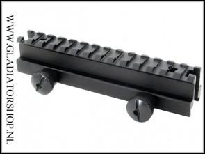 Warrior weaver riser mount rail 13 slot extra hoog