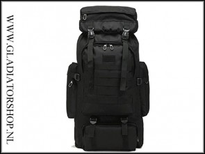 Warrior tactical outdoor backpack 80L Black
