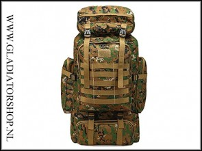 Warrior tactical outdoor backpack 80L digital wood