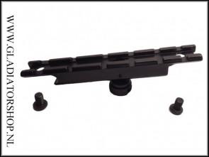 Warrior draagbeugel top rail mount met 6 slots