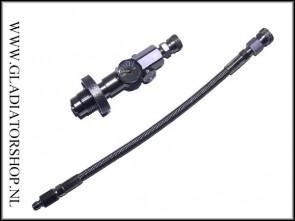 Warrior 200 & 300 bar 4500 psi DIN HP fillstation met vulslang