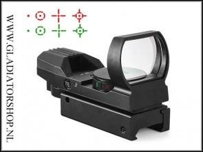 Warrior Reflex Red Dot Sight 20mm Rail Zwart