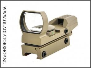 Warrior Reflex Red Dot Sight 20mm Rail Tan