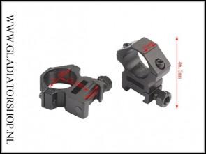 Warrior 1 paar scope mount ringen 25.4 naar 11 mm dovetail rail laag