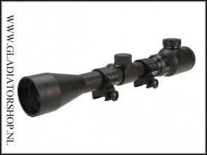 Warrior tactical 3-9x40 scope met electrische rood/groen verlichting