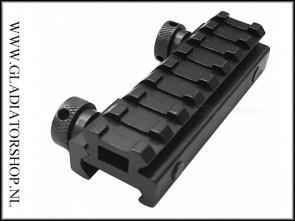 Warrior Weaver riser mount picatinny rail met 8 slots