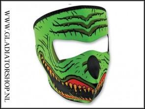 Zan neopreen full facemask Lizzard groen