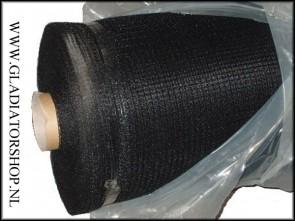 Zen paintball veiligheids-netting 5x100 meter zwart