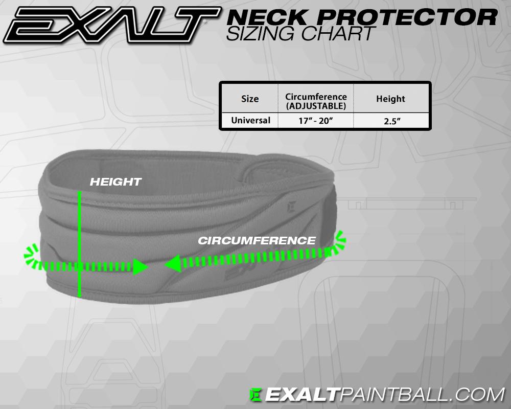 Exalt neck protector size chart matentabel