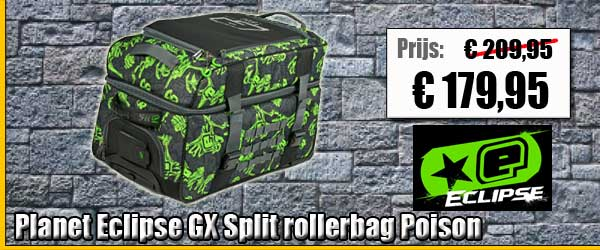 Planet Eclipse GX Split compact rollerbag tas Poison