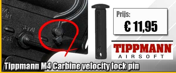 Tippmann M4 carbine airsoft velocity lock pin