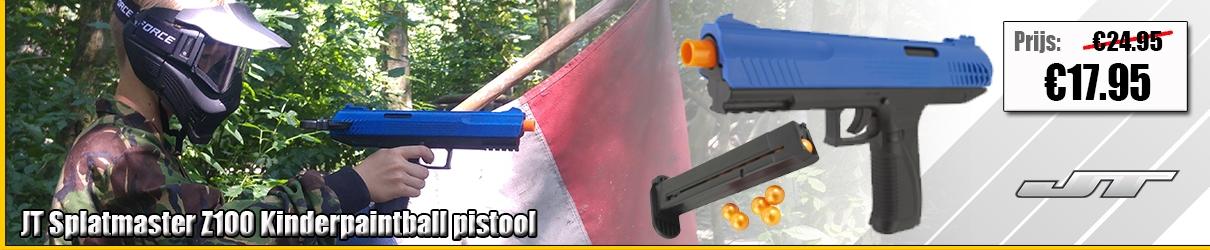 JT Splatmaster Z100 kinderpaintball pistool