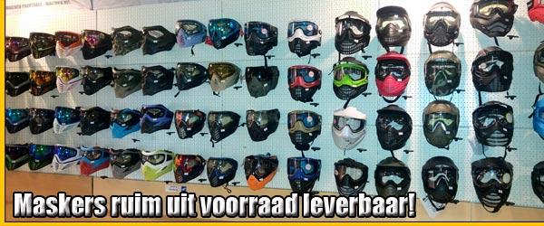 Paintball en Airsoft maskers ruim uit voorraad leverbaar